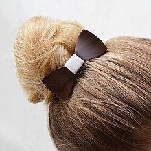 Ozdoby do vlasov - Drevený motýlik do vlasov - orech - 8114646_