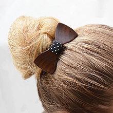 Ozdoby do vlasov - Drevený motýlik do vlasov - orech - 8114847_