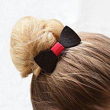 Ozdoby do vlasov - Drevený motýlik do vlasov - wenge - 8115221_