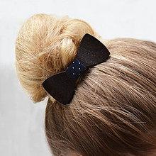 Ozdoby do vlasov - Drevený motýlik do vlasov - wenge - 8115601_