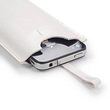 Na mobil - Kožené púzdro na mobil biele + krabička - 8116896_