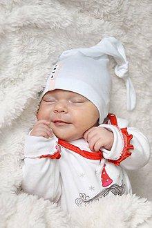 Detské čiapky - Baby čiapka uzlík s menom - 8117263_
