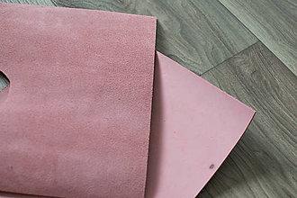 Suroviny - Zbytkový nubuk ružový - 8117139_