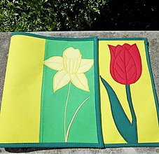 Úžitkový textil - Narcisy a tulipány - prestieranie - 8115560_