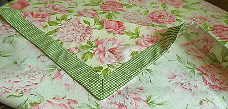 Úžitkový textil - Bavlnený romantický obrus - 8114954_