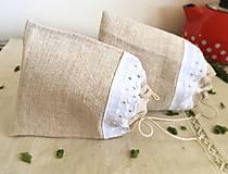 Úžitkový textil - Vrecúško na bylinky z ručne tkaného ľanu - 8114214_