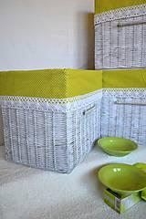 Košíky - Zelené jabĺčka JANKA / sada - 8114558_