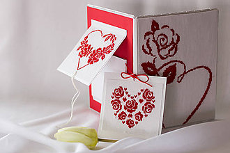 Papiernictvo - Z lásky, vďaky - vyšívaný fotoalbum - 8116488_