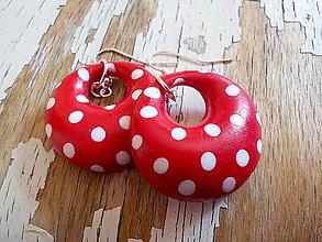 Náušnice - RETRO donut menší-jednostranné bodky - 8115915_