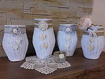 Dekorácie - Váza (Biela) - 8118613_