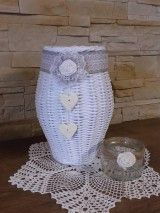 Dekorácie - Váza (Biela) - 8118615_