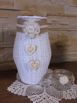 Dekorácie - Váza (Biela) - 8118635_