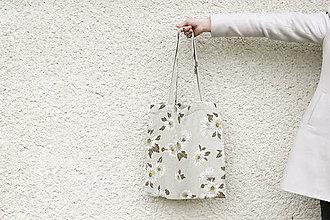 Nákupné tašky - JEDINÝ KUS - Slnečnice (ľanová taška) - 8120562_