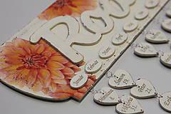 Dekorácie - Gravírovanie prvkov na rodinný kalendár (1 ks) - 8118642_