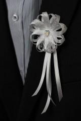 Pierka - Biele svadobné pierka pre otcov/starejšieho - 8120953_