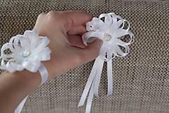 Pierka - Biele svadobné pierka pre otcov/starejšieho - 8120958_
