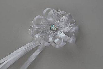Pierka - Biele svadobné pierka pre otcov/starejšieho - 8120957_