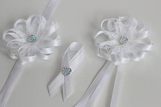 Pierka - Sada bielych svadobných pierok - 8120984_