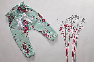 Detské oblečenie - Tepláky Aquarel Flower - 8118085_