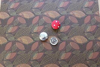 Galantéria - gombík na potiahnutie látkou, priemer 12 mm - 8120180_