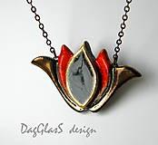 Náhrdelníky - keramický šperk -Tulipán menší - 8119427_