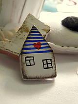 Odznaky/Brošne - Nežný domček - 8119224_