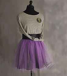 Sukne - Tylová sukňa krátka fialová - 8117703_