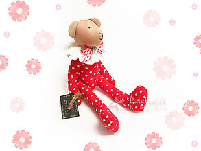 Hračky - Textilná hračka - Macko červený - 8119443_