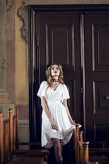 Šaty - Biele letné šaty pre vílu - 8118810_