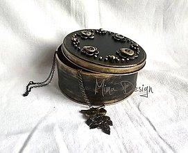 Krabičky - Šperkovnica zlatá - 8123895_