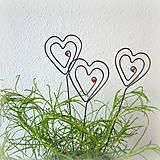 Darčeky pre svadobčanov - zapichovacie  srdiečka - 8123247_