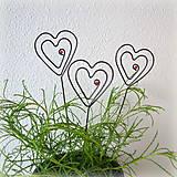 Darčeky pre svadobčanov - zapichovacie  srdiečka - 8123248_