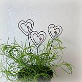 Darčeky pre svadobčanov - zapichovacie  srdiečka - 8123250_