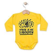 Detské oblečenie - Spánok je pre slabochov - 8122306_