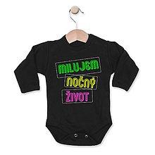 Detské oblečenie - Milujem nočný život - 8123042_