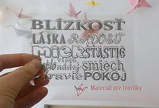 Pomôcky/Nástroje - Slovenské razítko Vianočné posolstvá, len v MaterialPreTvorilky - 8123067_