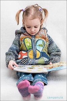 Detské oblečenie - Detský svetrík s veľkým kvetom veľ. 2-3 roky - 8122793_