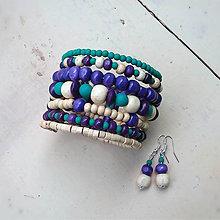 Sady šperkov - tyrkysovofialový set - 8123668_