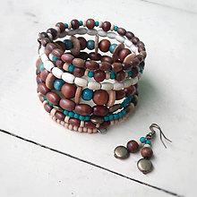 Sady šperkov - hnedotyrkysový - 8123996_