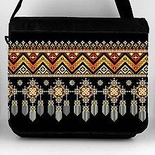 Iné tašky - Taška na plece XL indiánska výšivka 01 - 8124405_