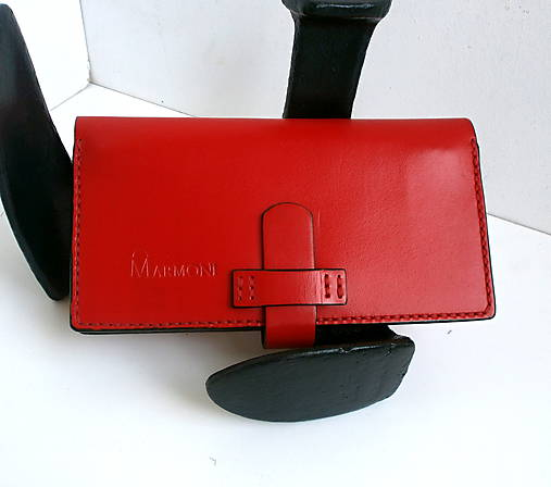 Peňaženky - Kožená peňaženka - Lady Zhŕňajka I - 8124331_