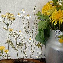 Úžitkový textil - Vankúš - zakvitnutá lúka - 8122589_