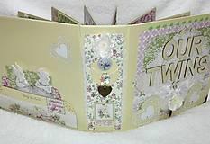 Papiernictvo - Luxusný fotoalbum pre dieťa - dvojičky - 8122568_