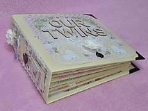 Papiernictvo - Luxusný fotoalbum pre dieťa - dvojičky - 8122572_