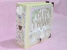 Papiernictvo - Luxusný fotoalbum pre dieťa - dvojičky - 8122585_