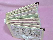 Papiernictvo - Luxusný fotoalbum pre dieťa - dvojičky - 8122586_