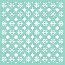 Pomôcky/Nástroje - KaiserCraft - Geo Tile (šablóna s geometrickým kvetinovým vzorom) - 8122745_