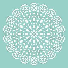 Pomôcky/Nástroje - KaiserCraft - Doily (šablóna  s čipkovanou kvetinovou mandalou, 12x12) - 8122831_
