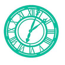Pomôcky/Nástroje - KaiserCraft - Clock (maska s motívom starožitných hodín) - 8122842_
