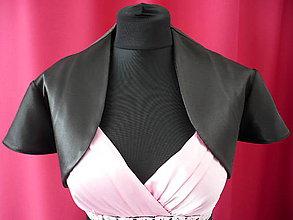 Iné oblečenie - Saténové bolerko čierne - lesklé - 8121874_